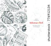 vietnamese food poster. a set... | Shutterstock .eps vector #776912134