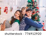 new year's picture of happy... | Shutterstock . vector #776912920
