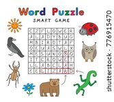 funny animals word search...   Shutterstock .eps vector #776915470