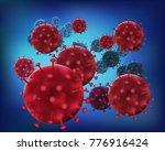 3d bacteria virus cell... | Shutterstock .eps vector #776916424