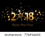 2018. happy new year background ... | Shutterstock .eps vector #776916643