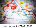 wardner. canada on a map. | Shutterstock . vector #776917909