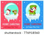 merry christmas and happy new... | Shutterstock .eps vector #776918560