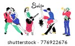 salsa party poster.set of... | Shutterstock .eps vector #776922676
