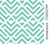 vector turquoise geometric... | Shutterstock .eps vector #776922799
