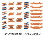 flat vector ribbons banners...   Shutterstock .eps vector #776928460