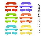 flat vector ribbons banners...   Shutterstock .eps vector #776928463