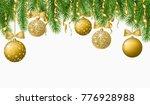 christmas background with fir... | Shutterstock .eps vector #776928988