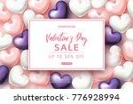 valentine's day sale banner.... | Shutterstock .eps vector #776928994