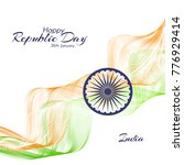 the day of the republic in... | Shutterstock .eps vector #776929414