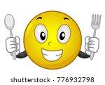 illustration of a smiley mascot ... | Shutterstock .eps vector #776932798