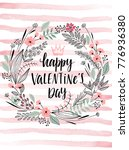 valentine s day callygraphic... | Shutterstock .eps vector #776936380