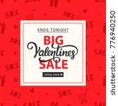 valentines day sale banner... | Shutterstock .eps vector #776940250