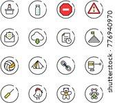line vector icon set  ... | Shutterstock .eps vector #776940970
