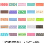 vector illustration set of cute ...   Shutterstock .eps vector #776942308