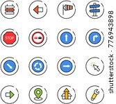 line vector icon set   sign...   Shutterstock .eps vector #776943898