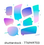 trend speech bubbles set in a... | Shutterstock .eps vector #776949703