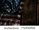 usa flag on a wood surface | Shutterstock . vector #776950900