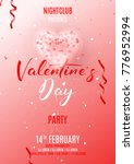 happy valentine's day party... | Shutterstock .eps vector #776952994