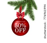xmas sale poster with gradient... | Shutterstock .eps vector #776961994