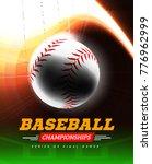 baseball in the backlight on a... | Shutterstock . vector #776962999