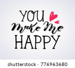 hand sketched lettering... | Shutterstock .eps vector #776963680