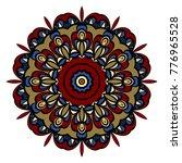 mandala. blue  red  gold color... | Shutterstock . vector #776965528