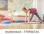 sportswoman in sportswear... | Shutterstock . vector #776966116