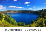 Panorama View Of Blue Lake  A...