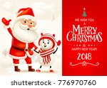 merry christmas and happy new... | Shutterstock . vector #776970760