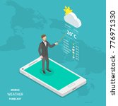 weather forecast online flat... | Shutterstock .eps vector #776971330