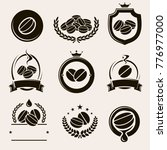 coffee labels and icons set.... | Shutterstock .eps vector #776977000