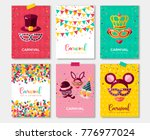 carnival colorful posters set ... | Shutterstock .eps vector #776977024