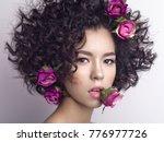 studio fashion photo of... | Shutterstock . vector #776977726