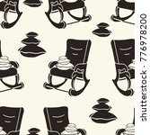 seamless pattern with rocking... | Shutterstock .eps vector #776978200
