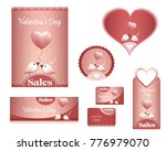 set valentine's day  sales ... | Shutterstock .eps vector #776979070