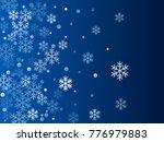 white snowflake macro vector... | Shutterstock .eps vector #776979883