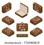 isometric set of travel...   Shutterstock .eps vector #776980819