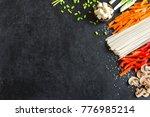 vegetarian cooking ingredients... | Shutterstock . vector #776985214