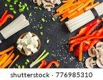 vegetarian cooking ingredients... | Shutterstock . vector #776985310