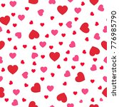 seamless pattern with red... | Shutterstock .eps vector #776985790