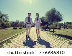bride and groom | Shutterstock . vector #776986810