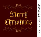 vector golden merry christmas... | Shutterstock .eps vector #776986930