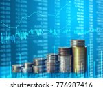 investment concept  coins graph ... | Shutterstock . vector #776987416