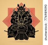 samurai  ready to fight... | Shutterstock .eps vector #776989090
