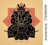 samurai  ready to fight... | Shutterstock .eps vector #776989090