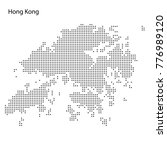 dotted map of hong kong. vector ... | Shutterstock .eps vector #776989120