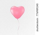 heart pink balloon on... | Shutterstock .eps vector #776989240