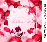 happy holidays  valentines day... | Shutterstock .eps vector #776990710
