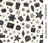 seamless christmas pattern in... | Shutterstock .eps vector #776991844
